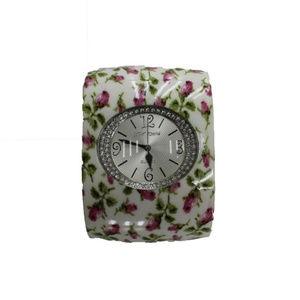 Betsey Johnson Floral Cuff Bracelet Watch